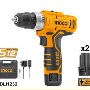 Ingco lithium-ion cordless drill 12v