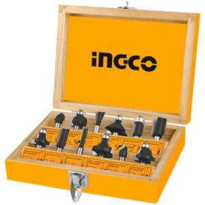 Ingco 12pcs Router bits set(8mm) AKRT1211