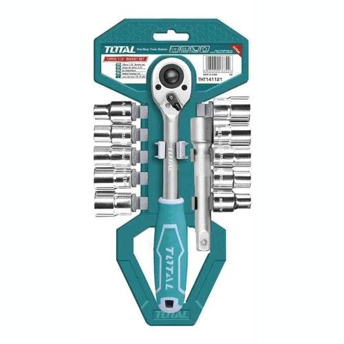TOTAL 12pcs 1/2″ Socket Set - THT14112