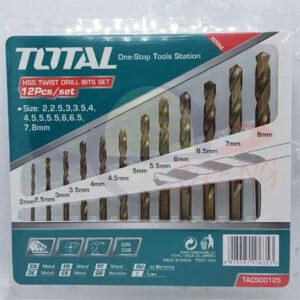 12pcs HSS Twist Drill Bits Set