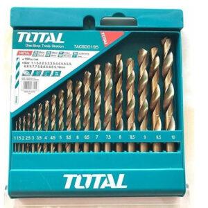 19pcs HSS Twist Drill Bits Set