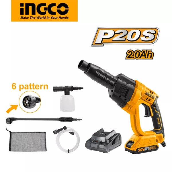 Ingco 20v Cordless High Pressure Car Washer CPWLI20082 best price in Bangladesh