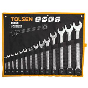 TOLSEN 14Pcs Combination Spanner Set