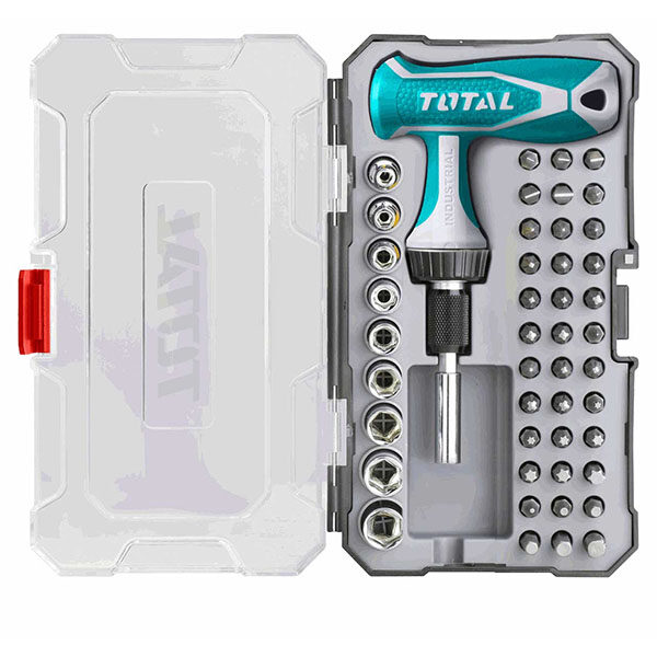 TOTAL 47 Pcs T-Handle Wrench Screwdriver Set TACSD30476 at best price in Bangladesh