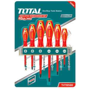 TOTAL 6pcs Insulated Screwdriver THTIS566
