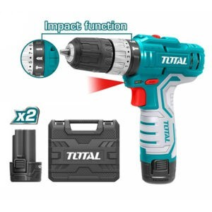 TOTAL 12V Cordless Impact Drill - TIDLI1232