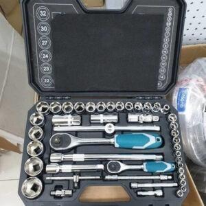 TOTAL 44 pcs 1/4″ + 1/2″ Socket Set THT421441
